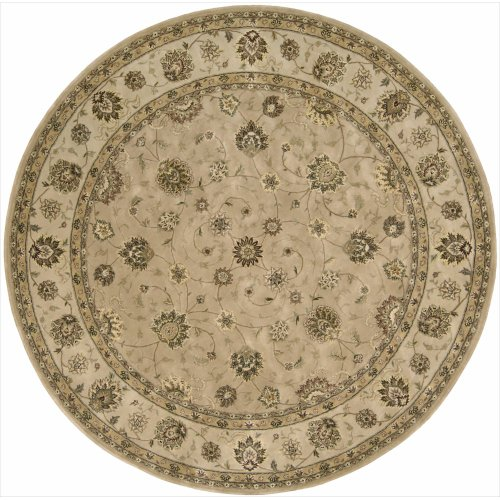 Nourison 2000 (2071) Camel Round Area Rug, 8-Feet by 8-Feet (8' x 8') ()
