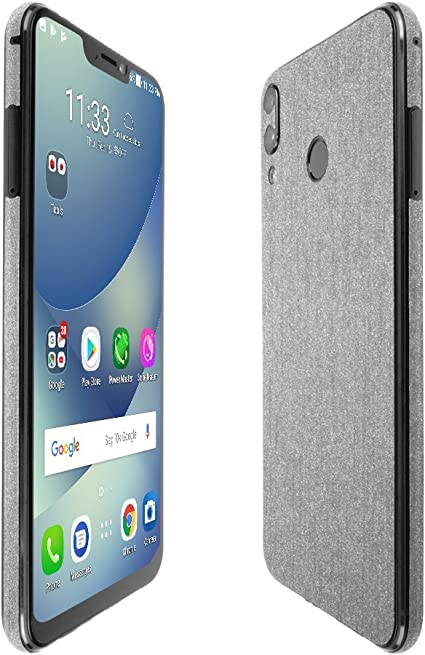 TechSkin with Anti-Bubble Clear Film Screen Protector Full Coverage Skinomi Brushed Aluminum Full Body Skin Compatible with Alcatel Go Flip