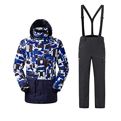 c78b25450c Snow Suit Sets Snowboarding Clothing Men and Women Adult Windproof  Waterproof Quick Drying Keep Warm Outdoor Polyester Clothing Ski Jacket + Strap  Pant ...