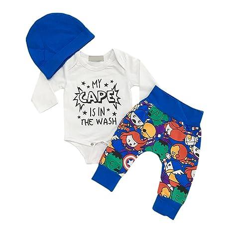 sukisuki bebé manga larga ropa Set, patrón de dibujos animados Toddler Bebé Niños Pelele Jumpsuits