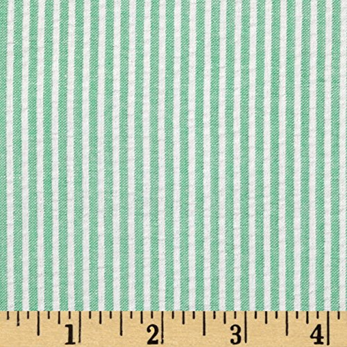 Carr Textile Regatta Seersucker Green Fabric by The Yard, from Carr Textile