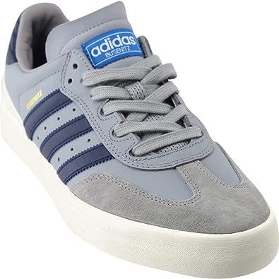 Adidas BUSENITZ VULC SAMBA EDITION Light Onix Collegiate Navy Bluebird Skate Shoes