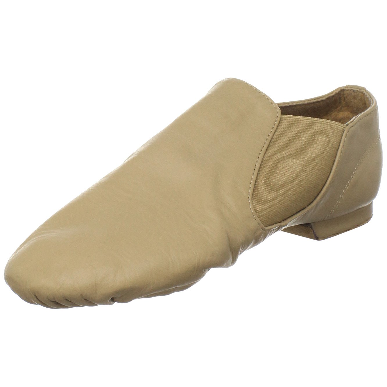 Sansha Moderno Leather Slip On Jazz Shoe,Tan,18 M US Women's/14 M US Men's by Sansha
