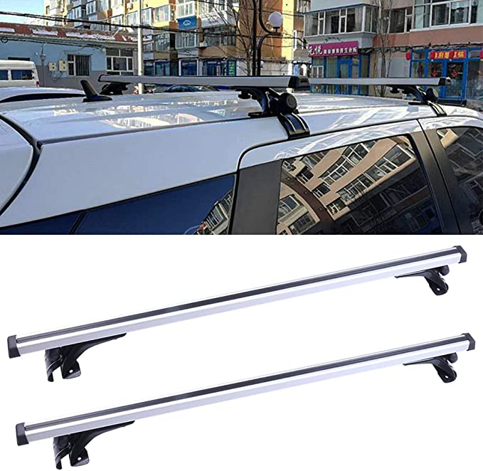 For Dodge Charger 2006-2017 Aluminum Car Top Roof Bar Crossbar Cargo Rack Silver