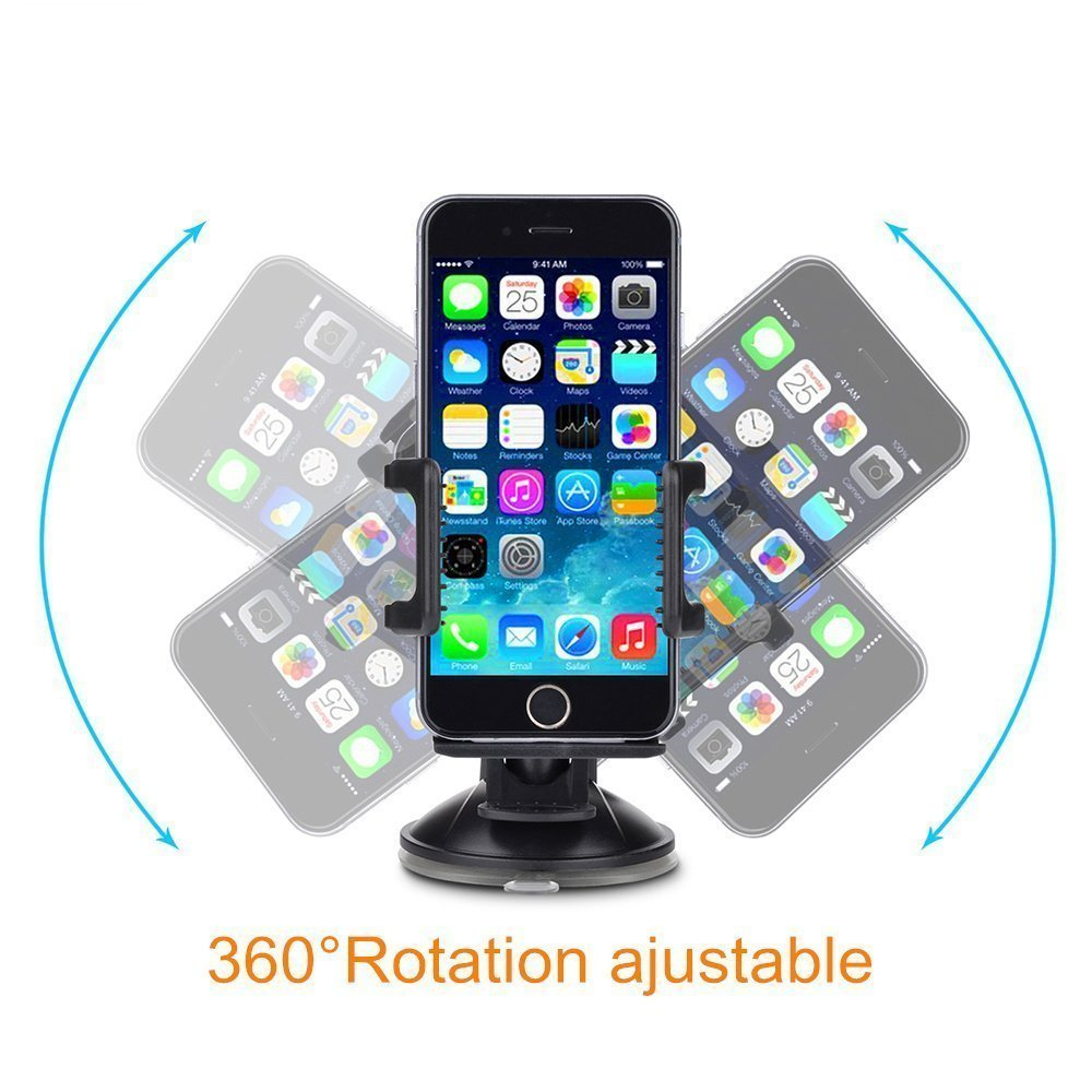 Tedarch Universal Car Smartphone Mount Holder with Adjustable Cradle for 360 degree rotation for GPS Navigation with Suction Cup Design BLUE 1PC Tanager Housewares 4333127149