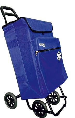 Bastilipo Julia 7104 Carro de la Compra de 4 50 litros con Bolsa térmica y Ruedas Plegables-Azul eléctrico, Normal: Amazon.es: Hogar