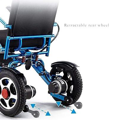 Amazon.com: MBEN Silla de ruedas eléctrica plegable, silla ...