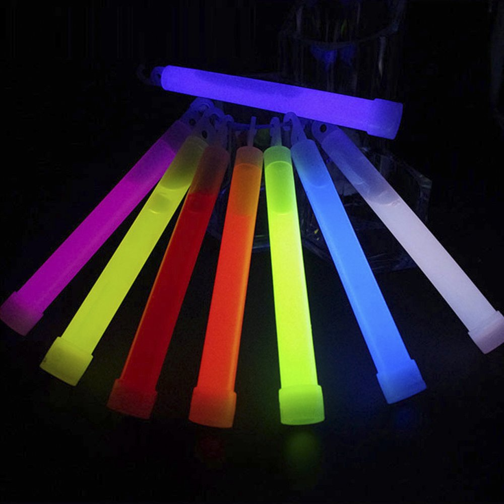 Glow Sticks,10 Pack Light Stick 5.98'' Multi-color Glow Sticks Spot-On Chem Light Light Sticks 8 Hours Emergency Safety Chem Light Sticks Snap-lights for Concerts, Parties and Events
