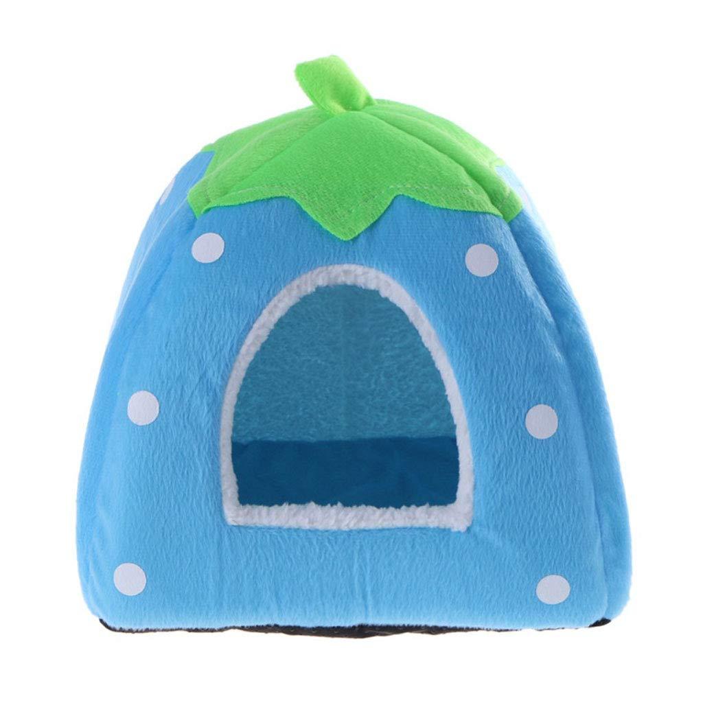 D Medium D Medium Foldable Cat Dog Kennel Warm Pad Strawberry Shape Sponge Pet House Kennel (color   D, Size   M)