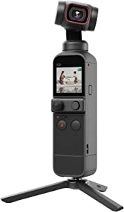 """DJI Pocket 2 Creator Combo - 3 Axis Gimbal Stabilizer with 4K Camera, 1/1.7"""" CMOS, 64MP Photo, Pocket-Sized, ActiveTrack 3.0, Glamour Effects, YouTube Video Vlog, for Android and iPhone, Black"""