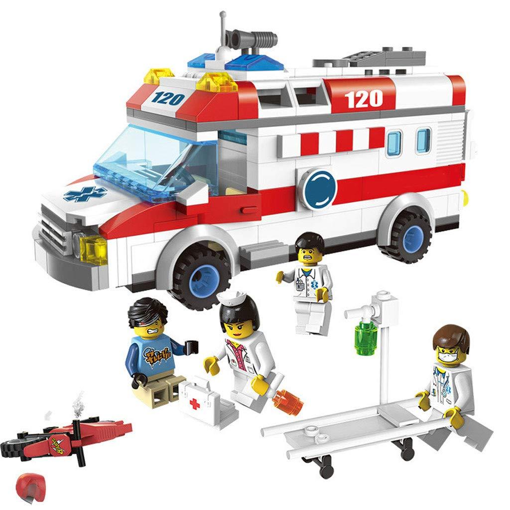 Spielzeug Krankenwagen | Stapelspiel aus Bausteinen