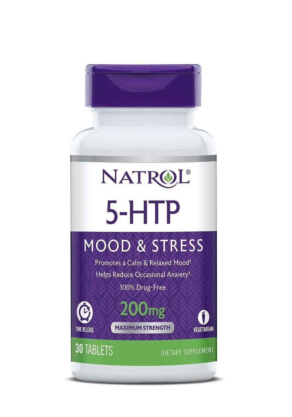 Natrol 5 Hydroxytryptophan Time Release Vegetarian Capsules (Pack -3)