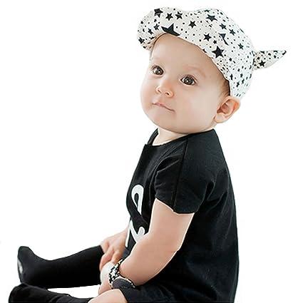4682ec366784 ISABELLE Bébé Garçon Fille Enfant Kid infantile Chapeau Cap Beret Casquette  de Baseball chapeau pointu Blanc  Amazon.fr  Vêtements et accessoires