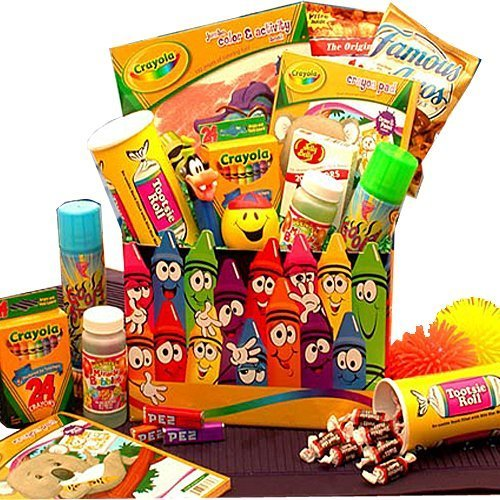 amazoncom holiday creative kids activity and snacks gift basket for children fun gift basket for kids gourmet snacks and hors doeuvres gifts