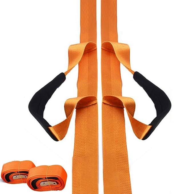 Transportgurt Tragegurt 4M Dauerhaft Hebegurt mit Schaum Schultergurt M/öbel Moving und Lift Straps Belt Einstellbar Hebeb/änder for 1 Person 200kg