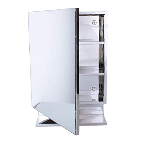 Orril Zoshomi New Look Stainless Steel Bathroom Mirror Cabinet Stainless Steel Bathroom Corner Cabinet With Storage With 1 Year Warranty Made In India With 7 Years Warranty Amazon In Baby
