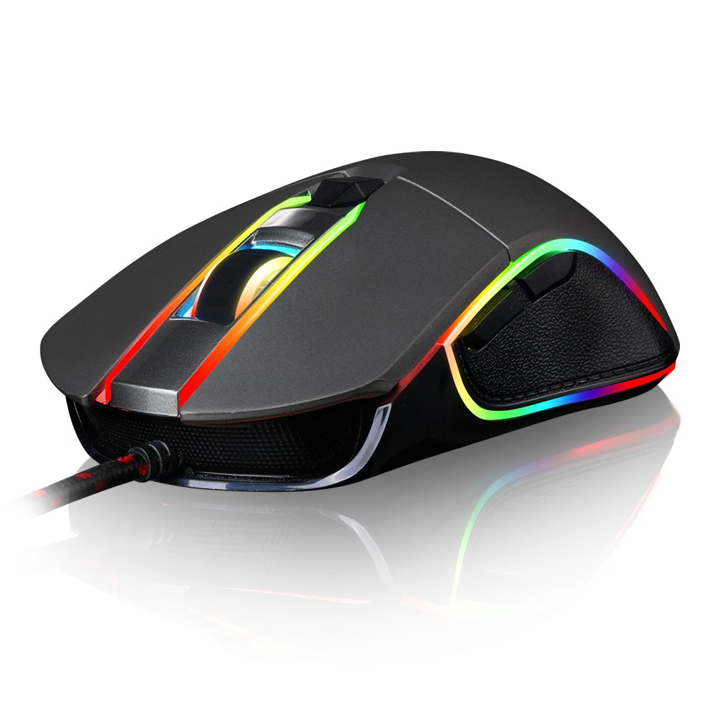 Mouse Gamer : Motospeed V30 Con cable 4000 DPI Support Macro