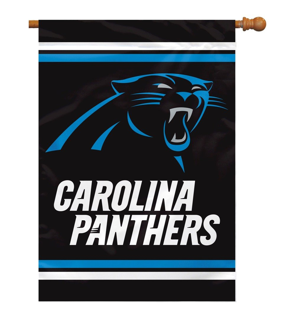 Fremont Die NFL Carolina Panthers 2 Sided House Banner, 28 x 40-Inch