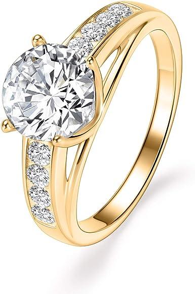 Silver Diamond Moissanite Ring Brilliant Round Cut Moissanite 1ct Moissanite Ring Promise Engagement Ring Wedding Anniversary Ring