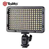 TOLIFO Photo Studio 176 LED Ultra Bright Dimmable On Camera Video Light Photography Fill-in Light for DSLR
