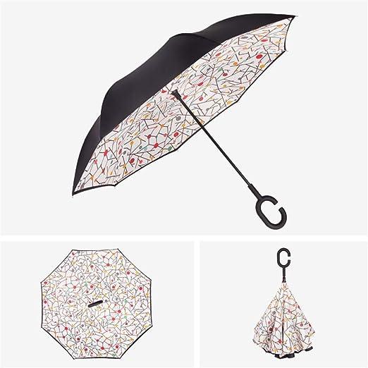 Nuoyi Paraguas invertido Paraguas Paraguas Reversible a ...