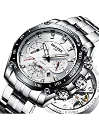 Men Automatic Mechanical Sports Watch Waterproof Military Luminous Luxury Stainless Steel Mens Watches