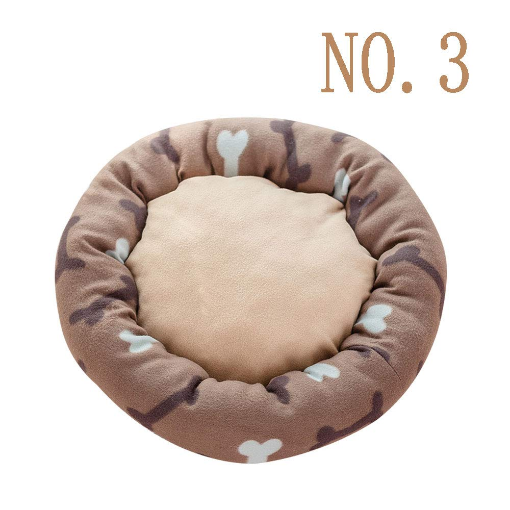 No.3 LiRongPing Four seasons universal plush cat kennel, comfortable soft puppy medium-sized dog summer round nest, pet supplies (size 60cm, four colors to choose from, pets up to 10kg) (color   NO.3)