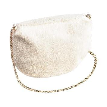 add1692d40a Kintaz Fashion Women Soft Faux Fur Bag Shoulder Crossbody Purse Evening  Clutch Phone and Wallet Purse
