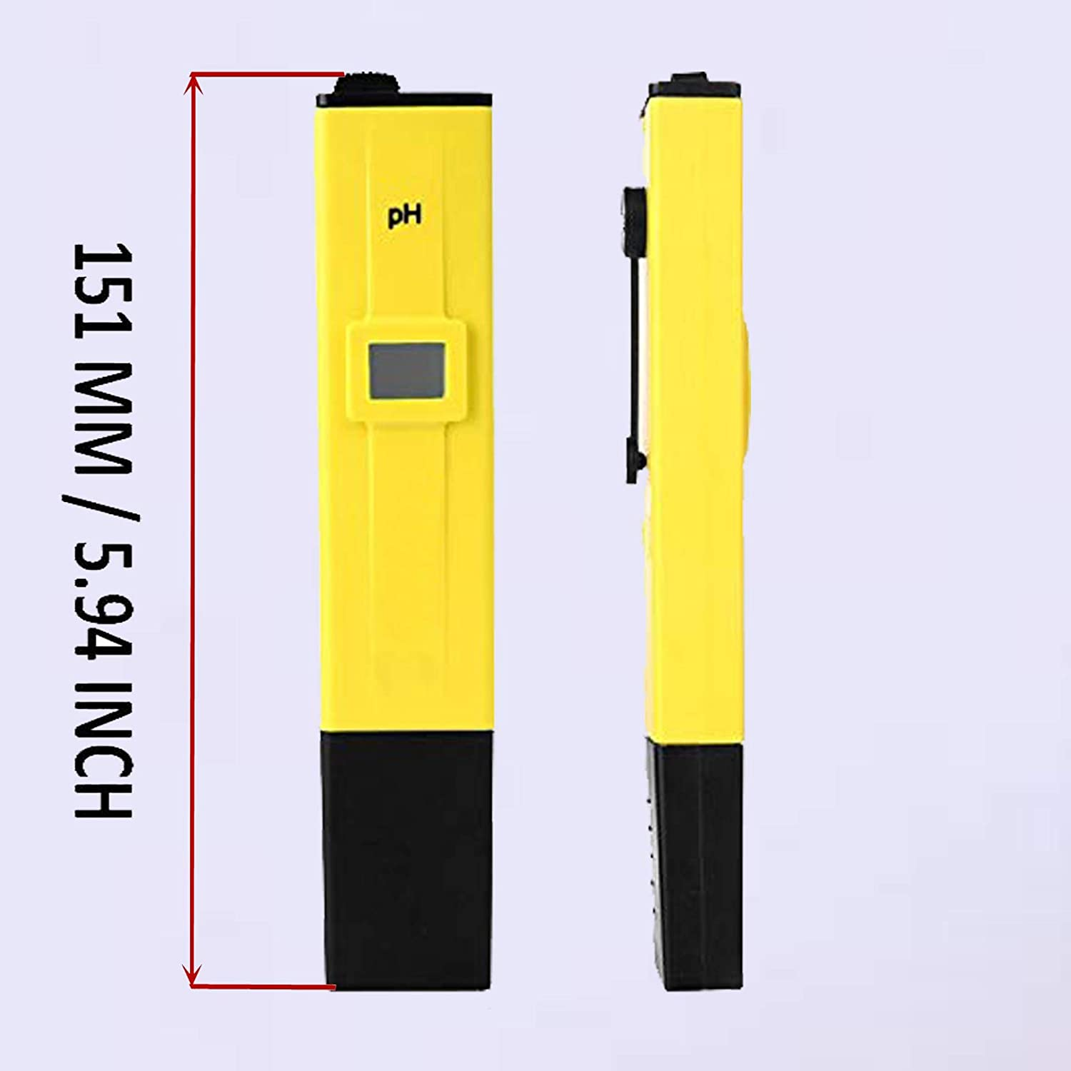 Food Beer Brewing Aquarium Water Quality Tester Soil High Accuracy and ATC x2 Calibration Packs Wine Urine Hydroponics Nutrient Digital pH Meter lab Pool pre calibrated for Water