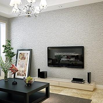 Moderne Minimalist Vliestapete Schlafzimmer Wandfarbe Neutraler Hintergrund  Tapete, Leinen Grau