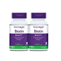 Natrol Biotin Beauty Tablets, Promotes Healthy Hair, Skin & Nails, Helps Support...