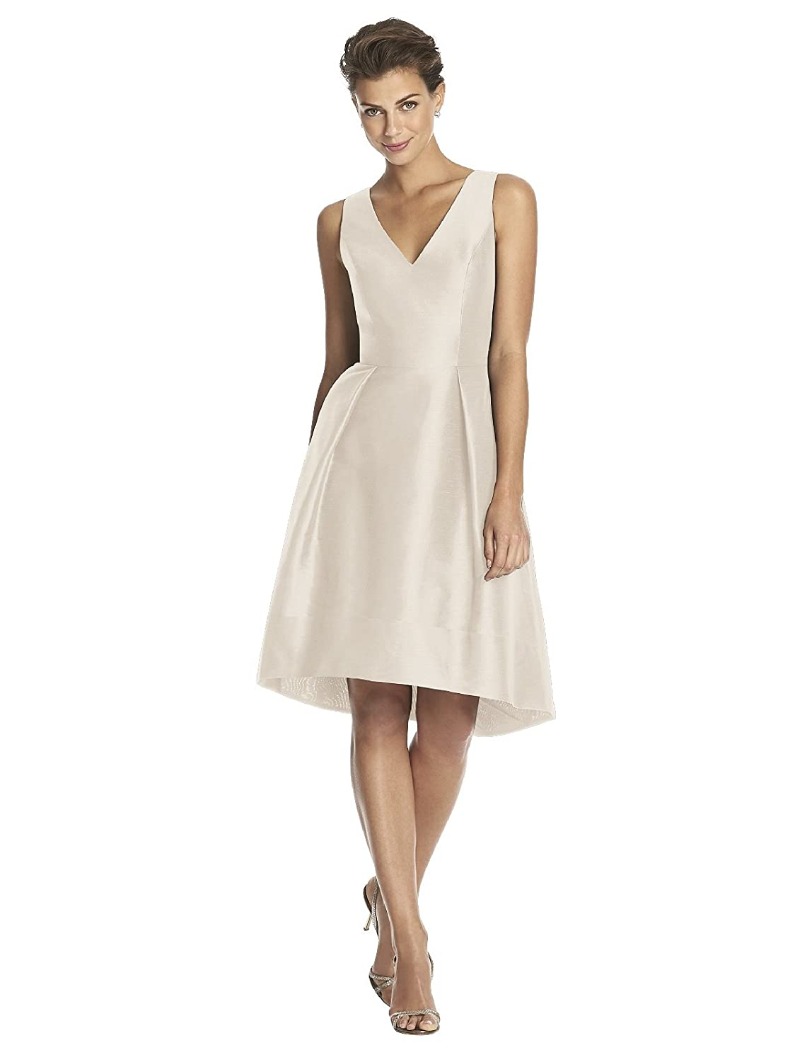 Alfred Sung Womens Shantung Pleated Cocktail Dress 80%OFF - www ...