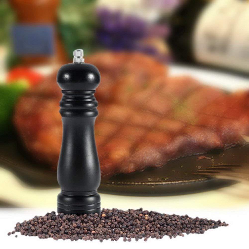 Home Kitchen Wood Chateauneuf Pepper Mill Shaker Pepper Grinder Black Black