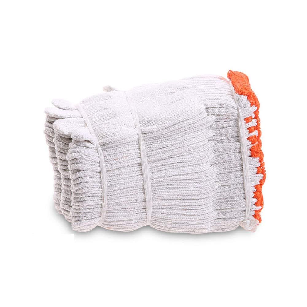 YIWANGO Schnittfeste Handschuhe - Hochleistungsschutz Lebensmittelqualität Handschuhe Zum Schneiden Verarbeitung Hof Arbeit Tun Arbeitsschutz 24 Paare,Weiß-OneGröße