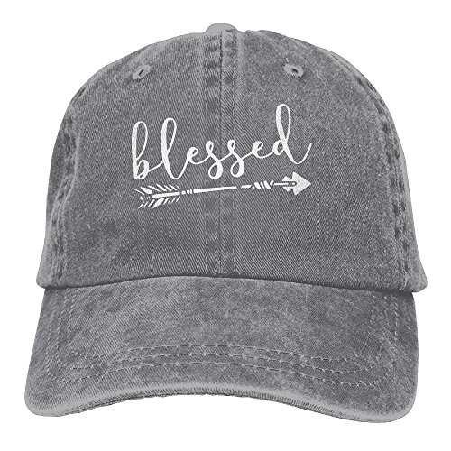 - FUNINDIY Men and Women Blessed Letters Arrow Printed Vintage Jeans Baseball Cap