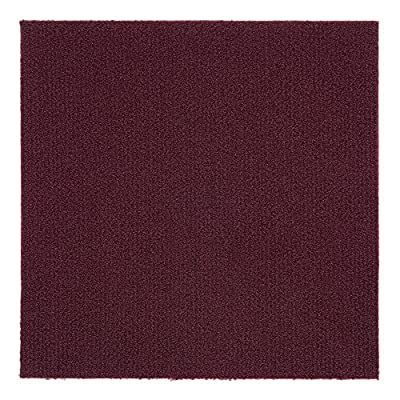 Ben&Jonah Collection Nexus Burgundy 12x12 Self Adhesive Carpet Floor Tile - 12 Tiles/12 sq Ft.