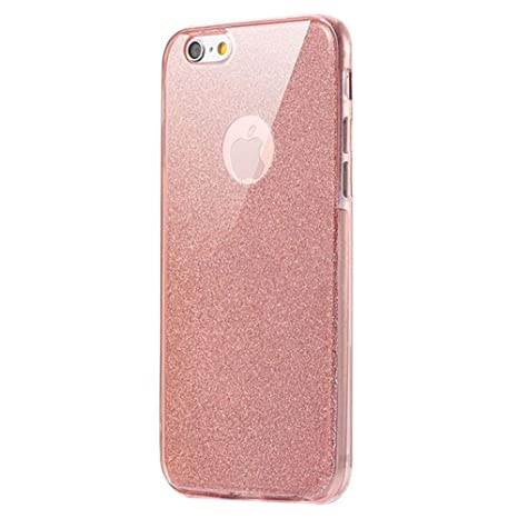 iPhone 7 360 grados móvil, iPhone 7 móvil de purpurina, iPhone 7 Carcasa Antigolpes ultrafina suave TPU Gel silicona Brillante Brillante Cristal ...