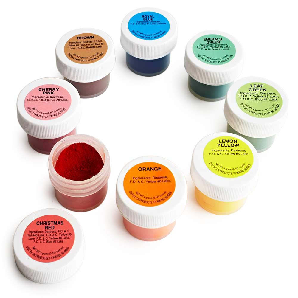 Powdered Food Coloring Kit - Set of 8 - Includes a List of Pro Uses by Cakegirls by Cakegirls