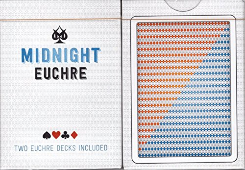 Midnight Euchre Playing Cards Poker Size Deck LPCC Custom Limited Edition