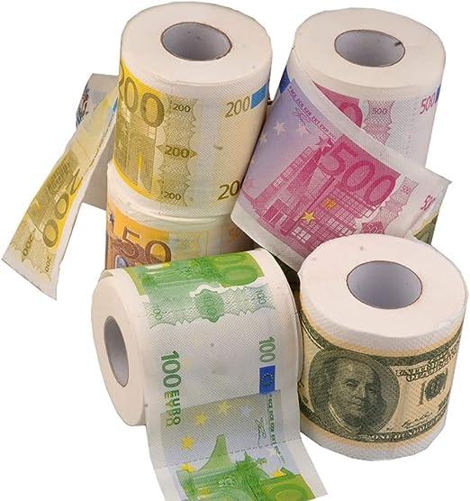 LFY Papel higiénico de Colores, diseño de dólar Europeo, Papel ...