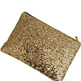 Lady Sparkling Sequins Handbag, Fashion Dazzling Prime Clutch Purse Gold Wallet, Retro Luxurious Evening Clutch Wedding Purse for Women