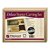 Flexcut SK108 Deluxe Starter Carving Set with 16