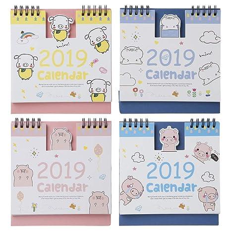Junlinto, 2019 Lovely Happy Pig Escritorio Bobina de pie ...