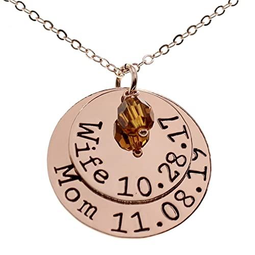 Gift for Grandma Personalized Mom Necklace Mothers Day Necklace Kids Names Necklace for Grandma Name Birthstone Grandkids Necklace