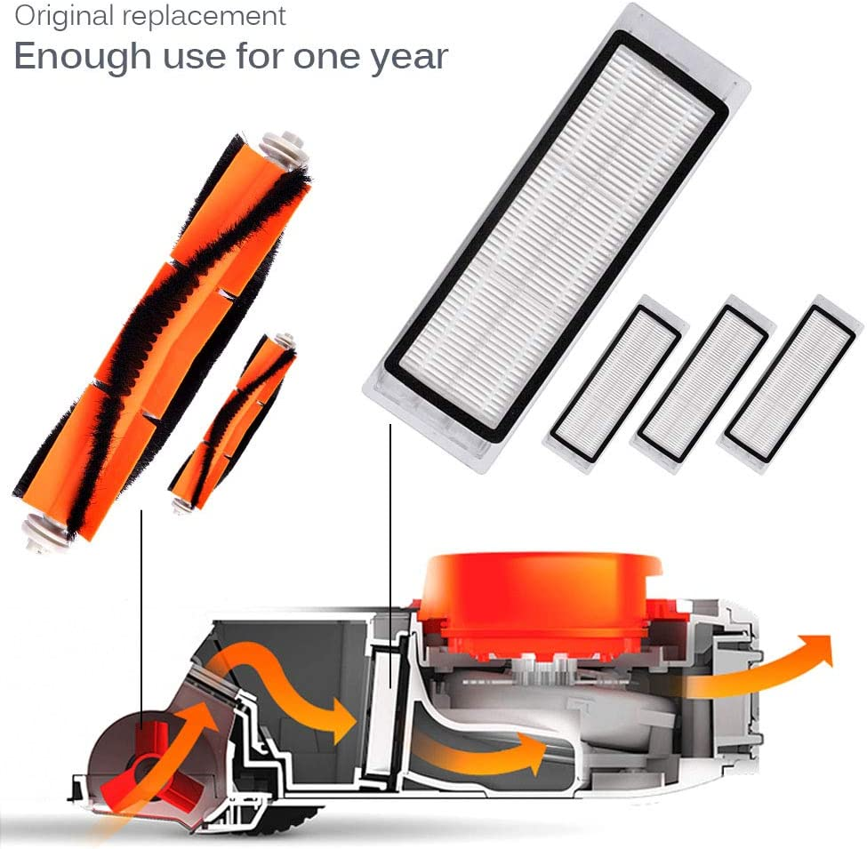 Keepow 18 piezas accesorios para aspiradora robotizada XIAOMI MI Robot Roborock S50 S51 piezas de repuesto