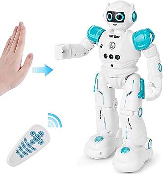 GotechoD Telecomando Robot Giocattolo programmabile Robot RC Regalo per Bambini, Controllo Gesto Intelligente Robot Telecomando Robot, Camminare