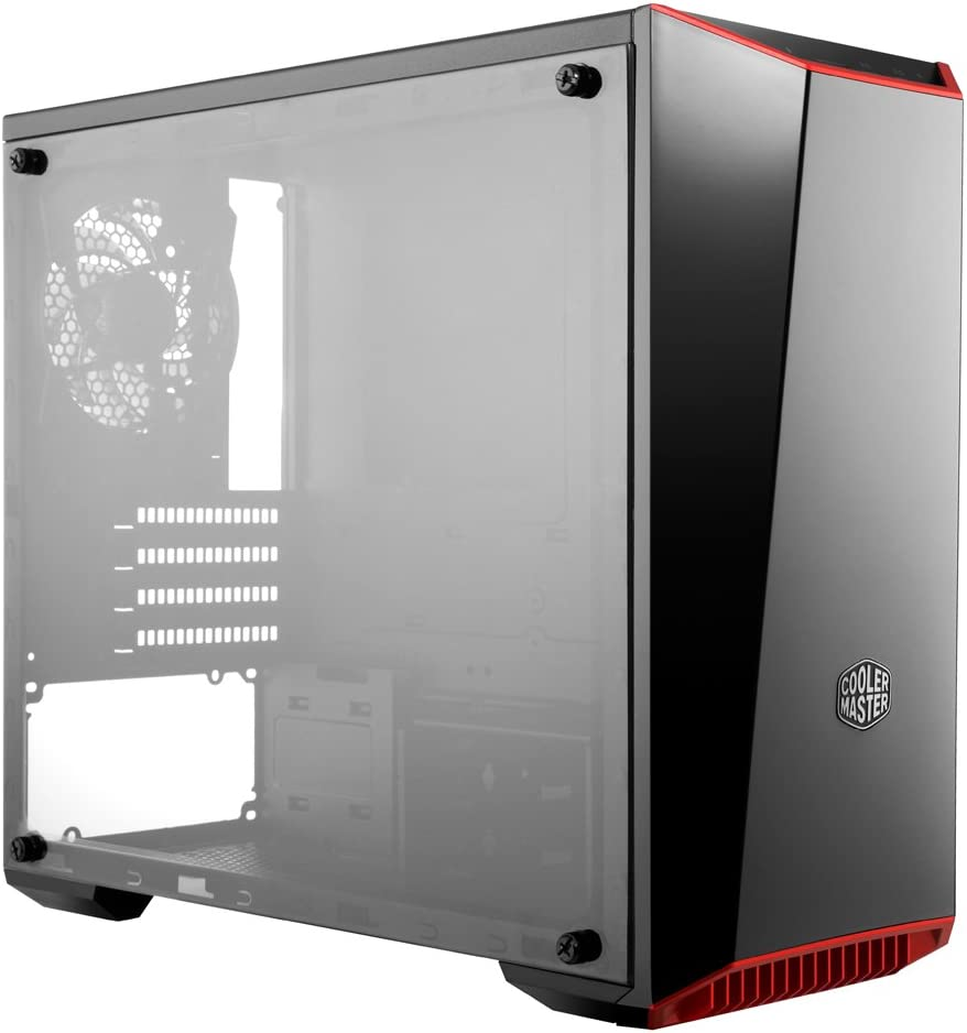Cooler Master MCW-L3B3-KANN-01 MasterBox Lite 3.1 Matx Tower w/ Front Dark Mirror Panel, 3 Customize Color Trims  And Transparent Acrylic Side Panel