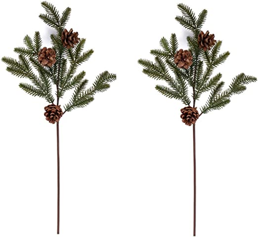 Wedding  Christmas Floral Arrangement Pine Branches Artificial Tree Fake Plant