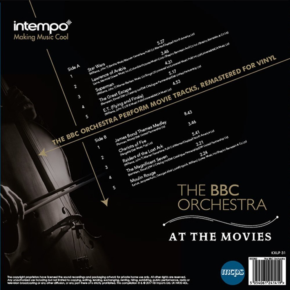 Intempo EE2281 BBC Orchestra At The Movies LP Vinyl Record