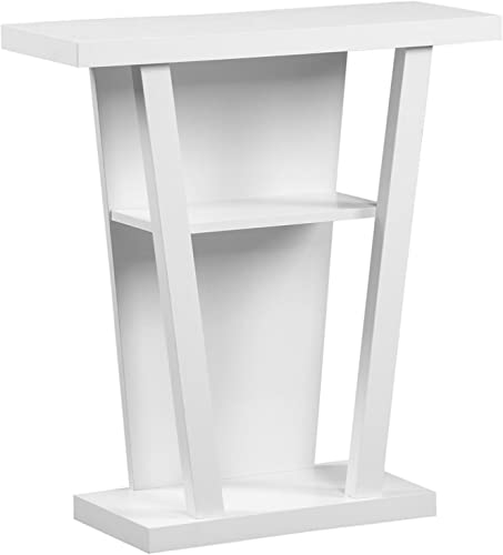 Monarch Specialties I Hall Console Accent Table, 32 , White